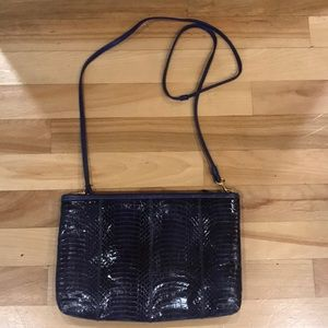 Purple snakeskin purse